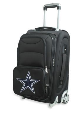 Denco Nfl Dallas Cowboys  Luggage Carry-On 21In Rolling Softside Nylon In Black - Black - One Size