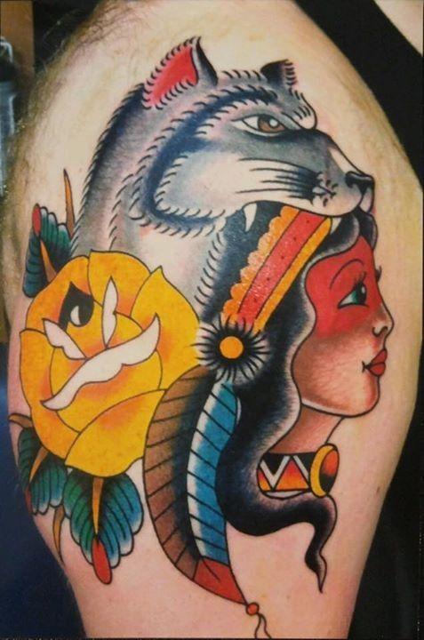 Best 25 headdress tattoo ideas on pinterest native for Saint tattoo knoxville