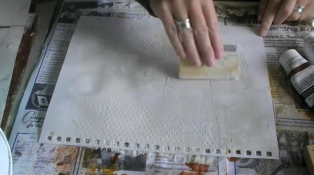 *** USING WALNUT STAINS & GOLDEN ACRYLICS ***Art Journal Tips/Techniques