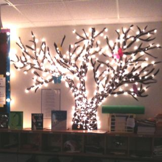 Classroom tree...and I will add a bazillion twinkle lights on it