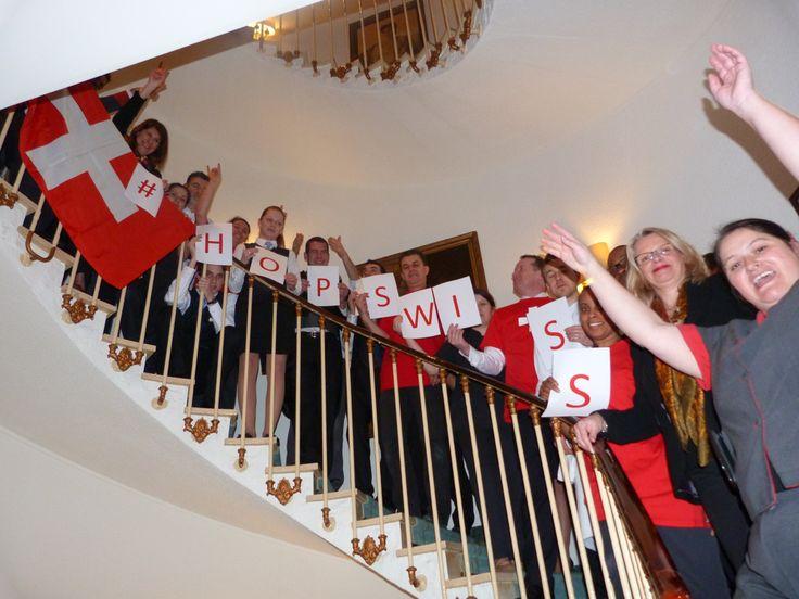 #HoppSwiss !!! L'Hôtel Bristol encourage l'équipe Suisse des Jeux Olympiques!