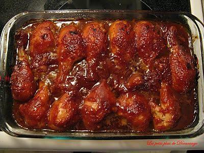 La meilleure recette de Pilons de poulet à Suzan! L'essayer, c'est l'adopter! 5.0/5 (11 votes), 32 Commentaires. Ingrédients: Nous avons tout simplement adorer cette recette. J'ai retirer la peau des pilons avant de les cuirent. Je voulais que la sauce soit directement sur la chair. J'ai aussi doublé la sauce . Et la prochaine fois je vais prendre des hauts de cuisses désossées pour avoir plus de poulet mais surtout pas d'os dans mon assiette , car je trouve désag...