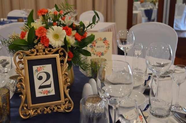 zdobione ramki / złote wesele / numery stołów Legionowo - image 1