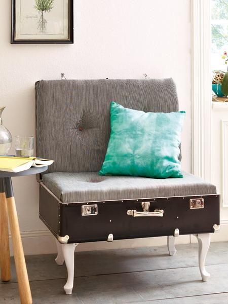 cadeiras feitas à mão com almofadas macias reciclagem malas