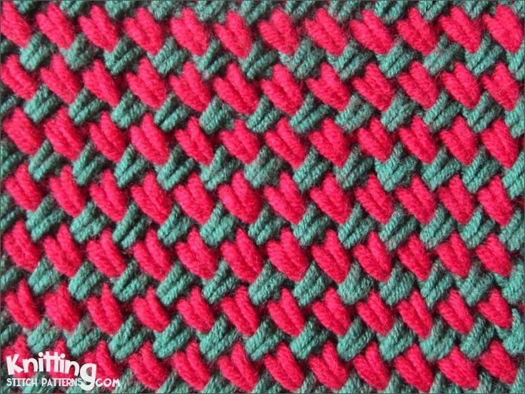 Knitting Woven Stitch Pattern : Woven Plait stitch is a dense stitch and pulls in considerably Knitting sti...