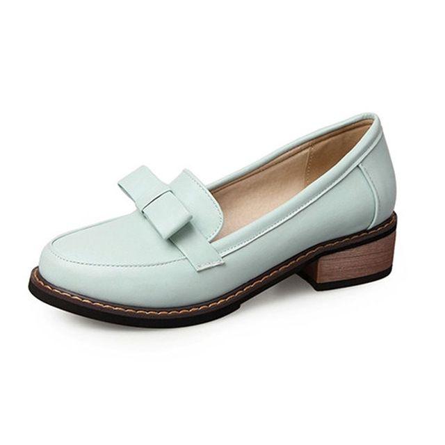 Дамы Повседневная Скольжения на Плоские Мокасины Мода Лук Круглый Носок Женщин квартиры Размер 34 43 Квартиры Для Женщин Сладкий Боути Оксфорд Обувь женщина купить на AliExpress