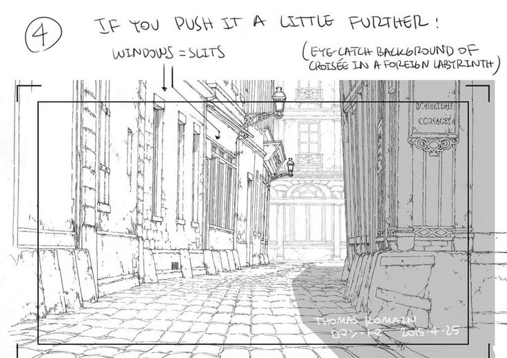 """as-warm-as-choco: """" How to draw a street that looks good (to me at least!) by Thomas Romain (Space Dandy, Code Lyoko, Basquash!, E.P. Kiss Dum, Cannon Busters). Another great tutorial ! """""""