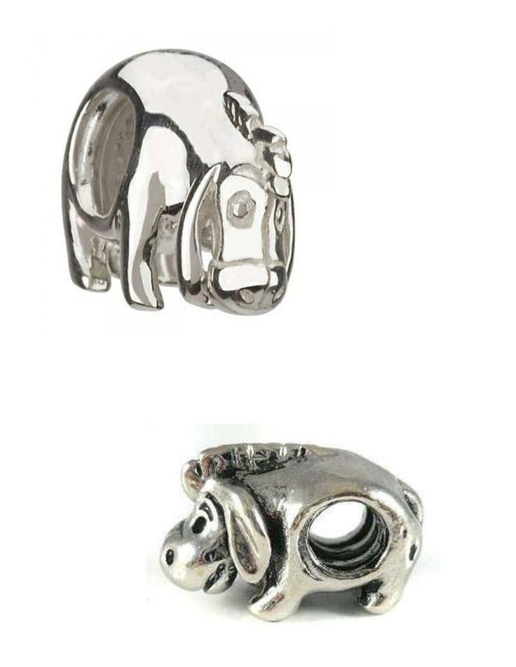 authentic chamilia disney charm silver eeyore dis 7