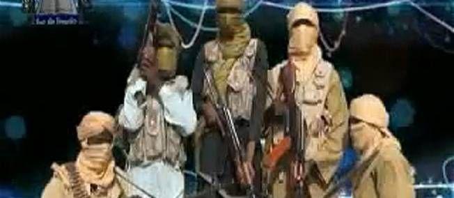 20.02.13 / Les enlèvements, la riposte des djihadistes à la France / Vidéo de combattants du groupe islamiste nigérian Ansaru, datée de novembre 2012.