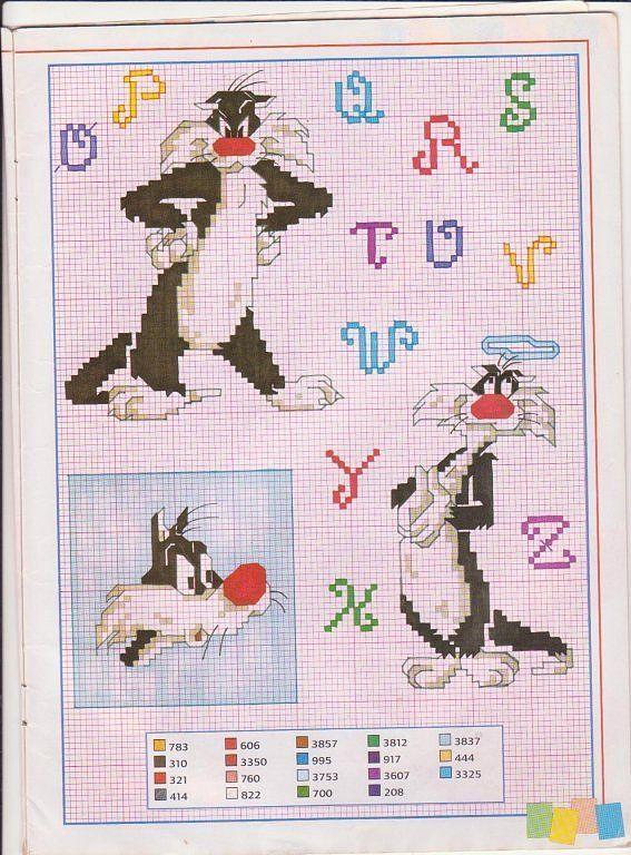 graficos infantiles punto de cruz (pág. 3) | Aprender manualidades es facilisimo.com