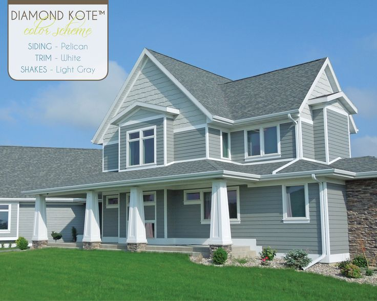 Diamondkote color scheme of the week pelican white light gray diamond kote color for Diamond kote lp siding colors