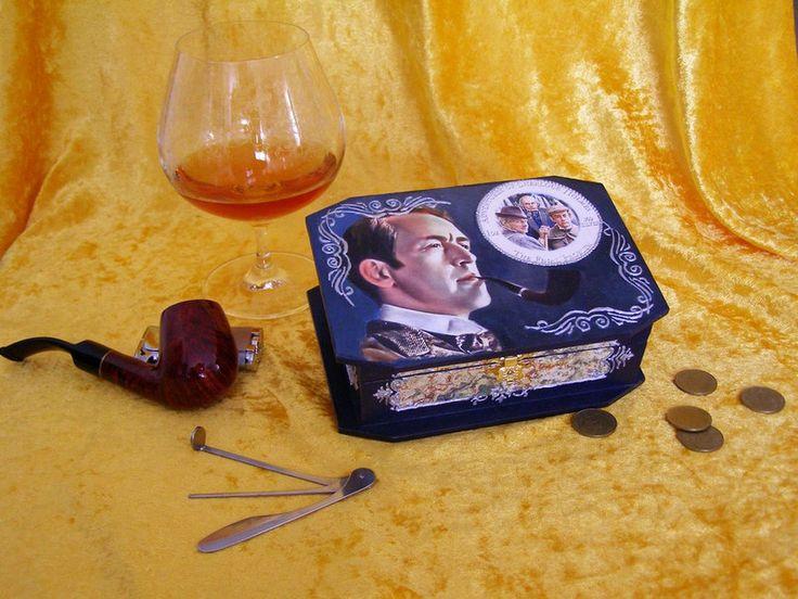 """Deko-Objekte - Schatulle""""Adventures of Sherlock Holmes"""" - ein Designerstück von Lena_PdO bei DaWanda"""