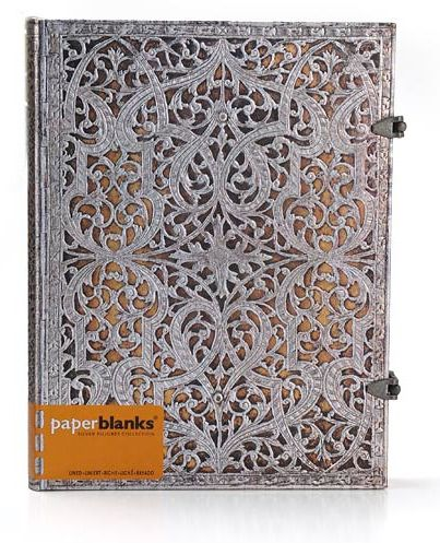 Свадебная книга для гостей Серебряная филигрань Paperblanks
