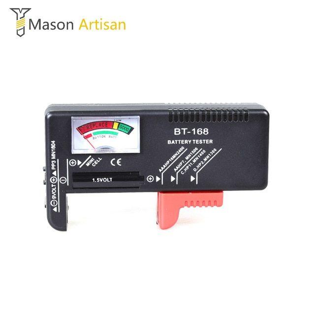 Universal Battery Tester Tool AA AAA C D 9V Button Cell Volt Tester Checker