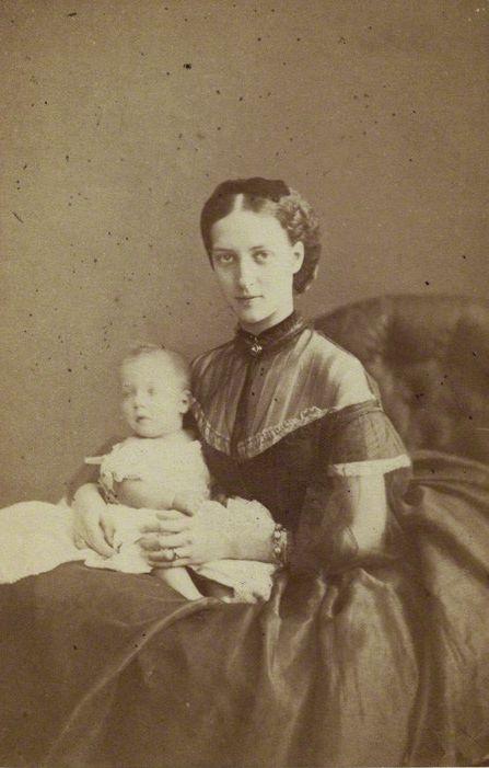 Prince Albert Victor, Duke of Clarence and Avondale; Alexandra of Denmark    by Lock & Whitfield  albumen carte-de-visite, 1864