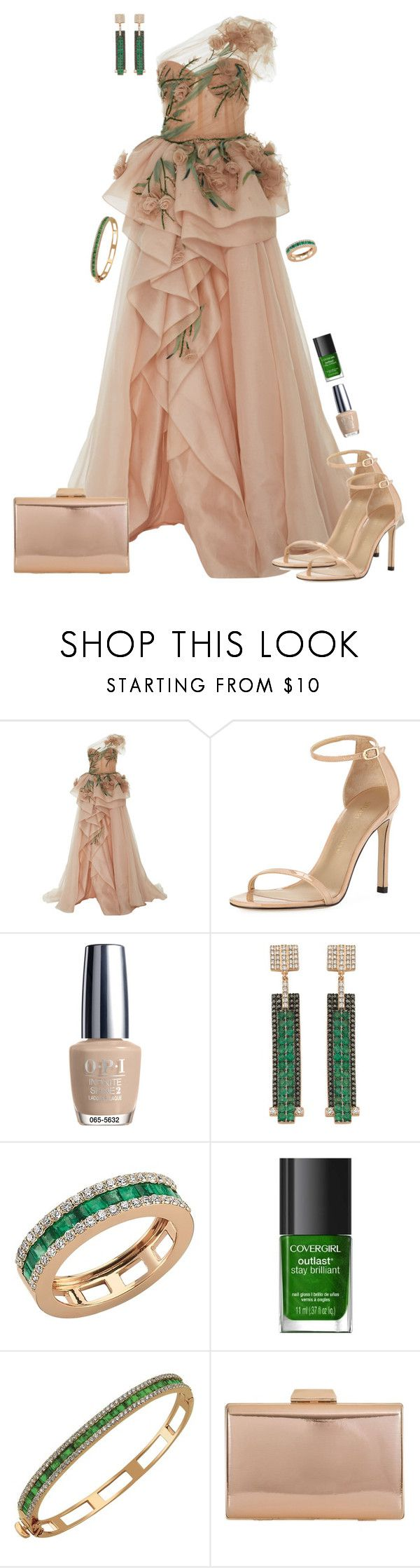 """""""Pastel Maxi Dress or Maxi Skirt"""" by dazzlious ❤ liked on Polyvore featuring Stuart Weitzman, OPI, Bee Goddess, COVERGIRL, KoKo Couture, Oscars, dress, Elegant, pastel and evening"""
