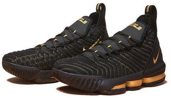 a681af0a37a Nike LeBron 16 XVI Black Golden | Fashion Shoes/Sneakers | Lebron 16 ...