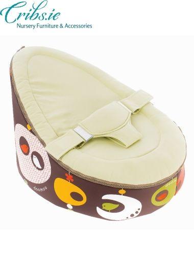 Doomoo Baby Bean Bag Seat Bird Kaki Nursery Furniture