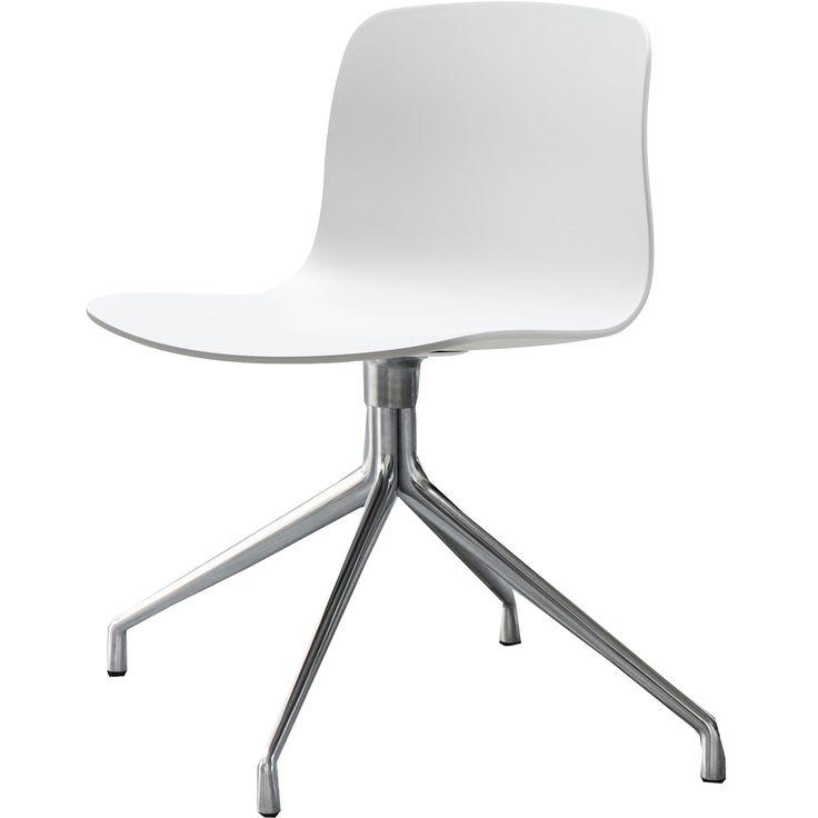 About a Chair 10 snurrstol, vit/aluminium i gruppen Möbler / Stolar & Pallar / Stolar hos RUM21.se (123635)