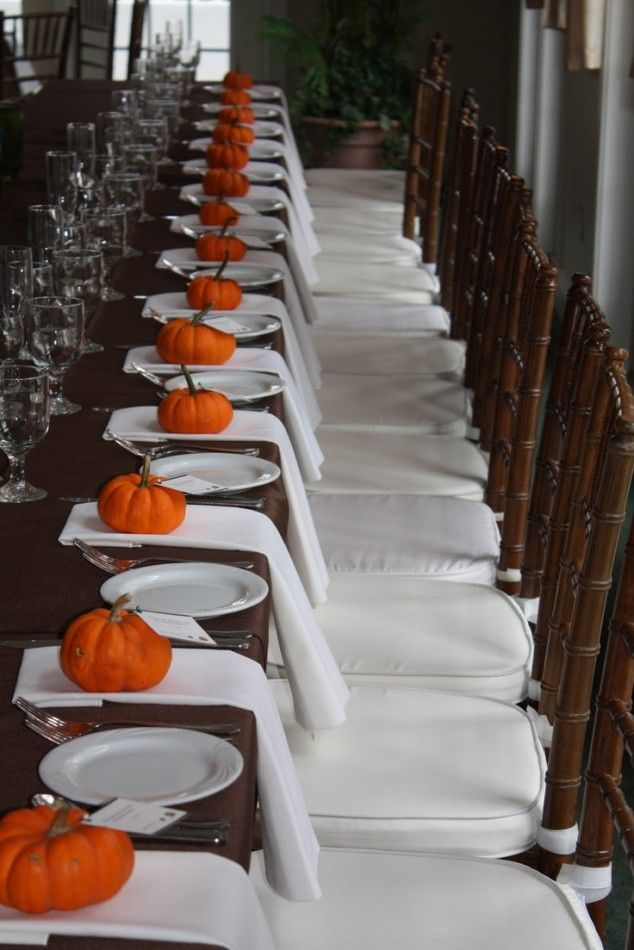 20 Fall Wedding Decoration Ideas, but toned down could make for amazing seasonal decorations
