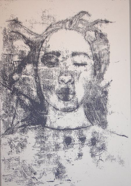 monoprint portrait