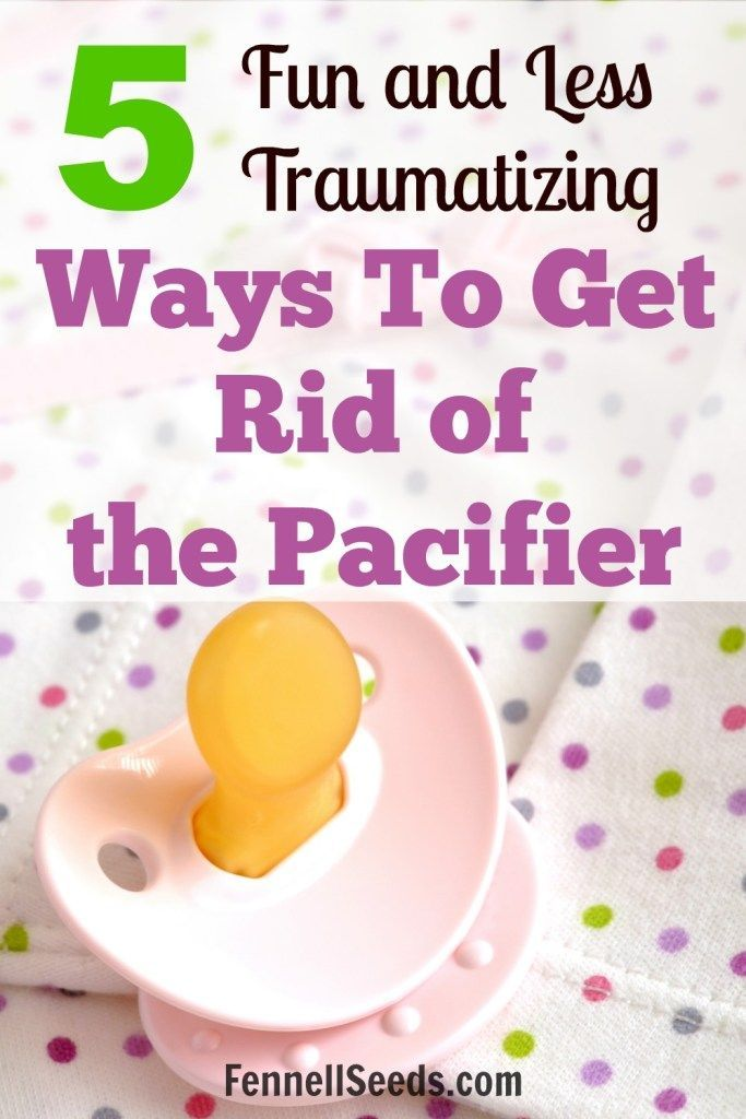 Getting rid of a pacifier can be tough for children.  This gives some different ideas you could try to help that transition.