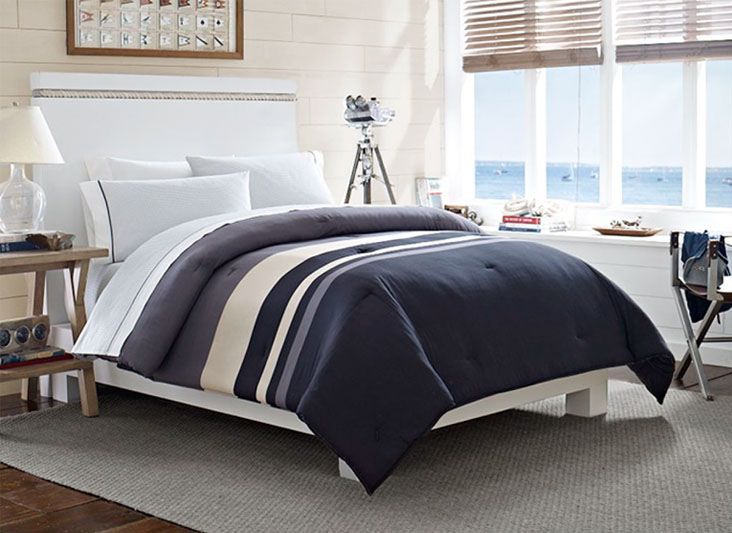 Nautica® Easton Bay Piece Comforter Set   Bed Bath U0026 Beyond Jazz This Up  With Some Red