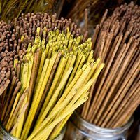 Burning incense in your home allows you to add fragrance to your home without the need to burn candles or use air fresheners. Incense comes in many fragrances and forms, one of which is incense sticks. While you can purchase incense sticks at the store, they're simple to make at home. Choose your own fragrances to make incense sticks for yourself...