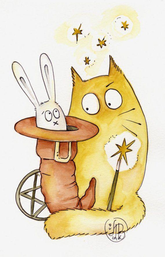 Смешная мультяшная картинка кота