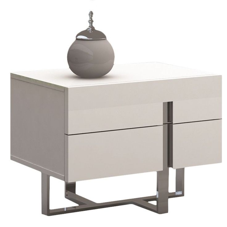 Collins Collection High Gloss White Lacquer Nightstand