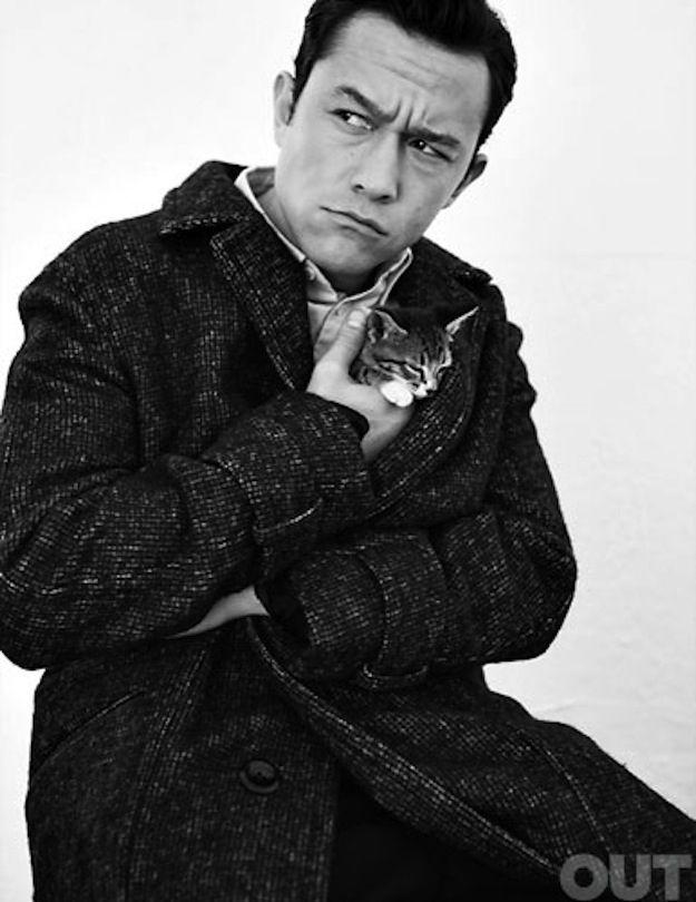 Here's Joseph Gordon-Levitt Cuddling A Kitten. Don't choo touch my kitten!!!!