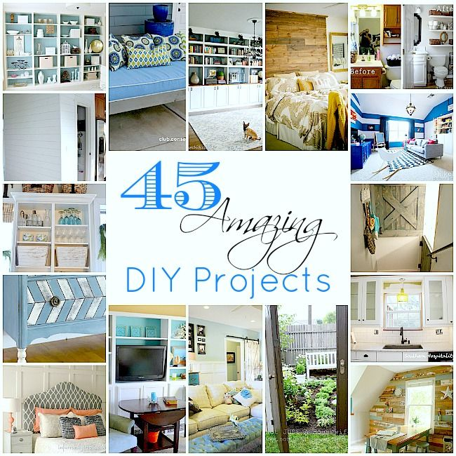 45 amazing DIY projects: Diy Home Decor, Amazing Diy, Home Projects, Built In, 45 Diy, Diy Decor, Kitchens Makeovers, Diy Projects, 45 Amazing