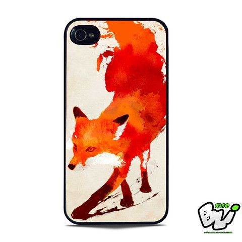 Abstract Painting Fox iPhone SE Case