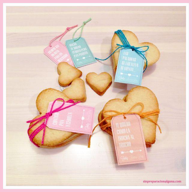 Etiquetas imprimibles para el día de San Valentin