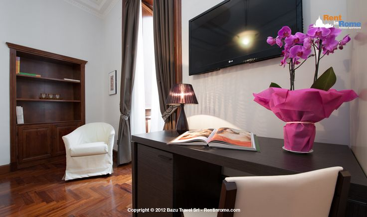Livia: Enjoy this charming suite at the third floor in a modern and high-end building of the centrally located Via Nazionale http://rentinrome.com/rome-apartment-livia.html