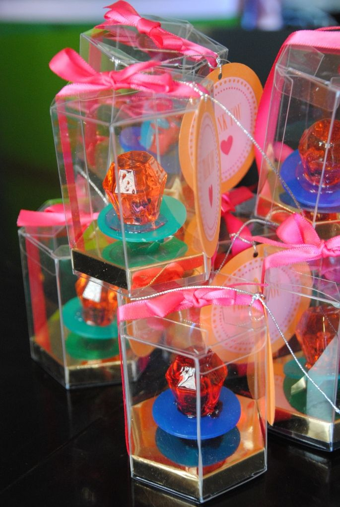 Ring Pop Favors. Cute idea for bridal shower. . . maybe you could make a game to go along with them?