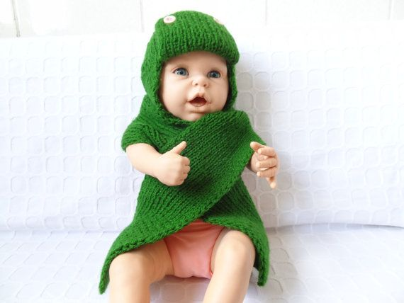 Green Knit Baby Hats and Knit Baby Scarf Buttoned by SwomanStore