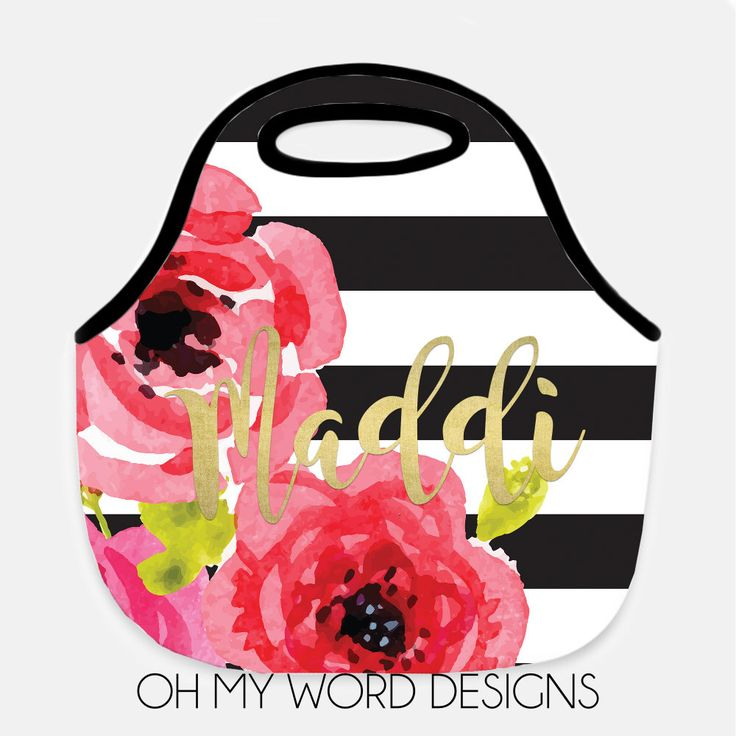 Personalized Lunch Tote-Neoprene Lunch Tote-Lunch Bag-Monogram Lunch Tote-Lunch Bag-Neoprene Lunch Tote by OhMyWordDesigns on Etsy https://www.etsy.com/listing/491863717/personalized-lunch-tote-neoprene-lunch