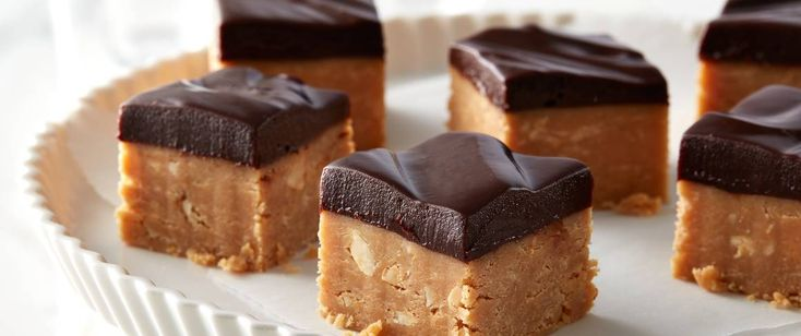 Holiday fudge will never be the same once you try this layer of creamy peanut butter fudge topped with a glossy chocolate ganache. The peanut butter-chocolate combo has never been better!