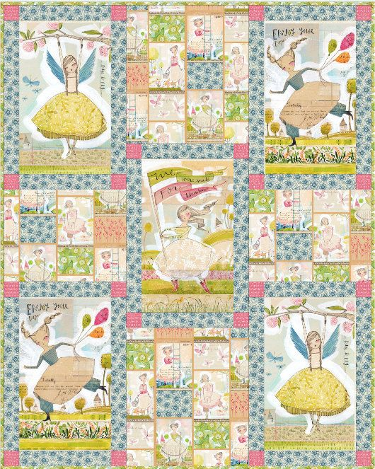 We Were Made for Adventure -  super cute fabric by Cori Dantini - kits and panels on etsy
