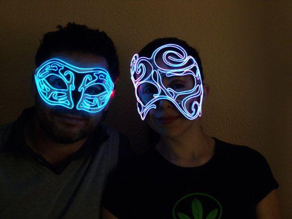 EL Wire Mask Masquerade by ELWire4U on Etsy, $50.00