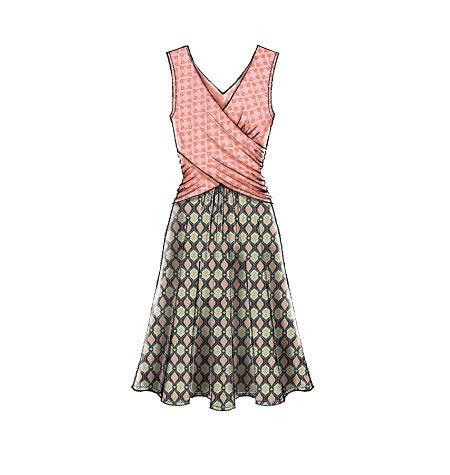 M7319, Misses' Gathered Waist Dresses