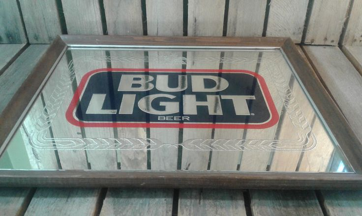 Vintage Bud Light Beer Mirror Sign by UpTheAntiqueCo on Etsy https://www.etsy.com/listing/538917143/vintage-bud-light-beer-mirror-sign