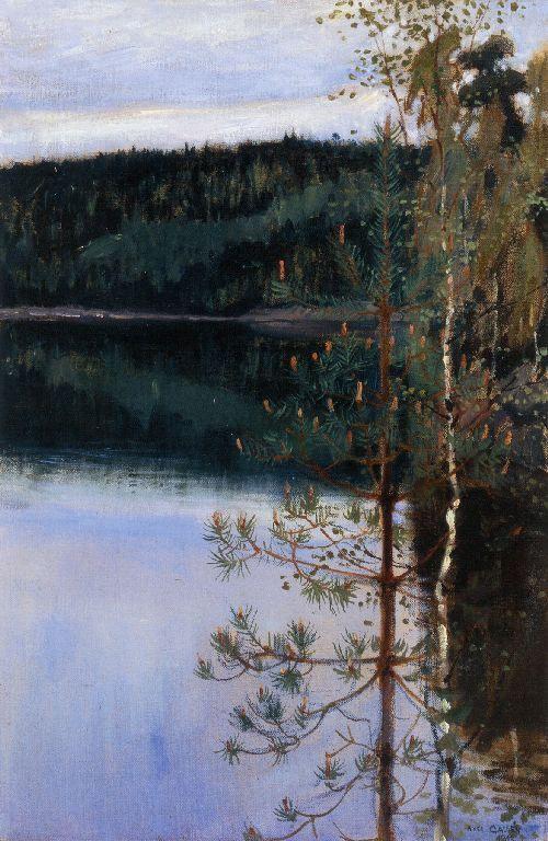 View of a Lake -   Akseli Gallen-Kallela,  Finnish 1865-1931
