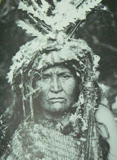 Female Shaman from the Clayoquot tribe of Vancouver, Canada