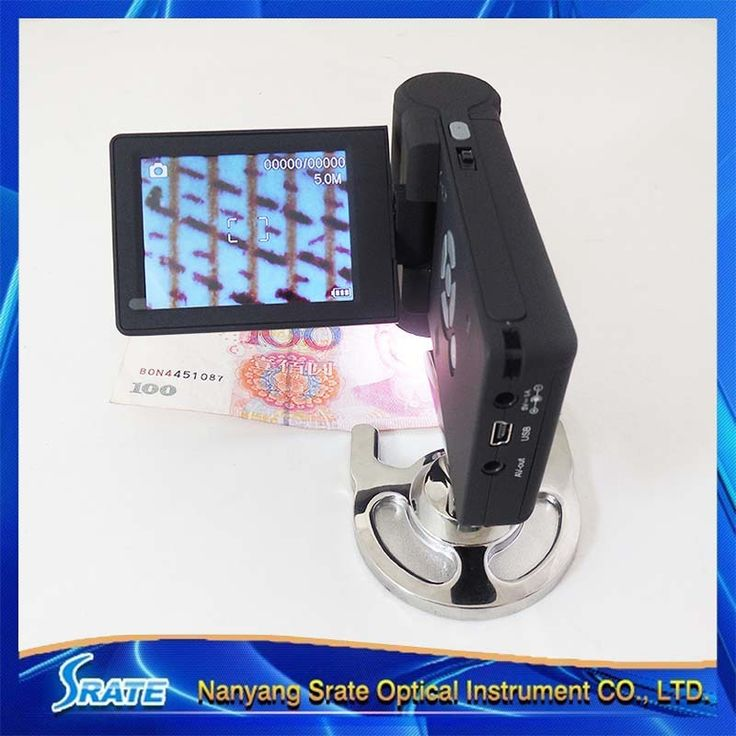 10-300X Portable LCD Digital USB Video Microscope Low Vision Aids Electronic Magnifier with 8 LED Mount Holder Stand