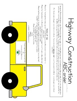 This set contains cars, trucks, and vans with uppercase and lowercase letters as well as highway cards.  Print out the highway cards and create a c...