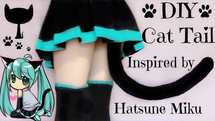 DIY Cat Tail Inspired by Hatsune Miku | Halloween DIY