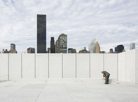 Four Freedoms Park by Louis Kahn... this looks like a section graphic