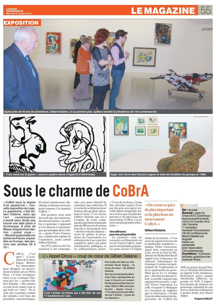 Le Phare dunkerquois - 31 octobre 2012 - Cobra, sous le regard d'un passionné - LAAC Dunkerque - octobre 2012/mars 2013